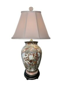 Beautiful Chinese Satsuma Style Porcelain Vase Table Lamp 24