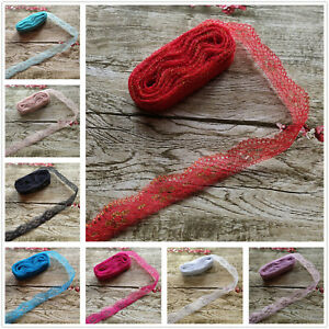 Beautiful 10yards 25MM Width Embroidery Lace Ribbon DIY Embroidered For Sewing GBP 1.59