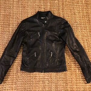 MICHAEL Michael Kors Women's Black Genuine Leather Moto Jacket • MEDIUM