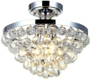 Home Decorators Collection Chandelier Clear Crystal Balls Shade 13 In Chrome