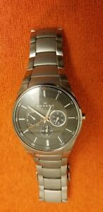 Skagen Men's Chronograph Bracelet Watch SKW6054 Silver