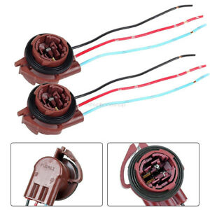 2× 3157 3357 4157 Brake Turn Signal Light Pre-Wired Socket Harness Wires For LED