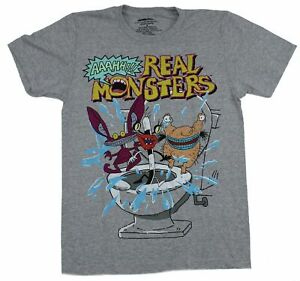 Real Monsters Mens T Shirt Original Cartoon Group Under Logo $19.99