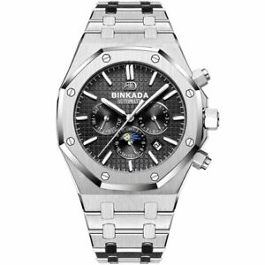 Luxury Automatic Mechanical Mens Watch Homage Date Swiss Full Stainless Steel $203.67