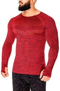 Kamo Fitness Long Sleeve Activewear T-Shirt for Men with Fast Drying and