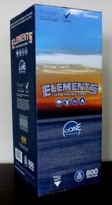 Elements Rice Cones King Size Authentic Pre-Rolled Cones w Filter~800 Cones~NEW