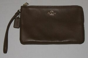 COACH WOMEN'S DOUBLE ZIP WALLET F87587 - LEATHER - SADDLE - MSRP $175 -BRAND NEW