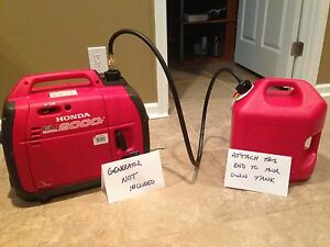 EXTENDED FUEL KIT for HONDA GENERATOR use your 5 G tank $79.99