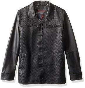 Robert Graham Men's Felstead Leather Shirt Jacket