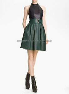 Spring Designer Lamb New Leather Women Dress Cocktail Stylish Party Wear  D-121