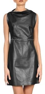 Spring Designer Lamb New Leather Women Dress Cocktail Stylish Party Wear  D-026
