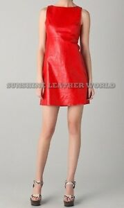 Spring Designer Lamb New Leather Women Dress Cocktail Stylish Party Wear  D-127