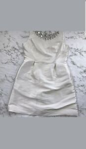 NWT Kate Spade White Embellished Cupcake Dress Sleeveless Cocktail 14  $548