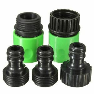 5Pcs Rubber Hose Water Faucet Tap Adapter Rubber Nozzle Washing Pipe Quick Conne