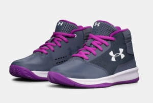 [1296012-962] Pre-School Under Armour Jet 2017 Girls' Basketball Shoes Size 11