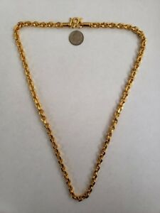 Pure 24K gold chain handmade 56.25 Grams 24 inches Cuban links