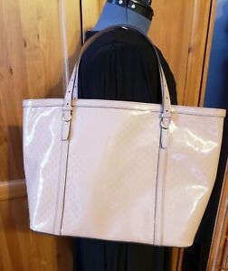 Gucci Microguccissima Beige Nude Patent Leather Nice Tote