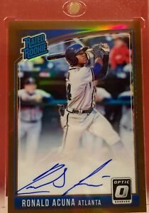 2018 Donruss Optic - RONALD ACUNA - Braves - Prizm Bronze AUTO Rated Rookie