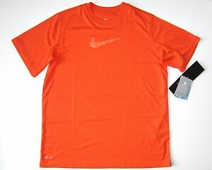 Nike Boy's Orange Size XL 18 20 T shirt Dry fit microfiber short sleeve Top nwt