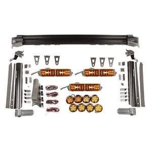 Rugged Ridge 11232.57 Fast Track Light Kit Incl. 3 13 in. Light Bars Mounted on