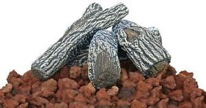 The Brick Colored Lava Rock And Log Kit By Uniflame