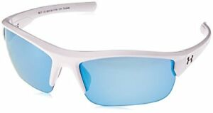 NEW Under Armour Propel 8600106-111761 Satin White Crystal Gray Blue Sunglasses