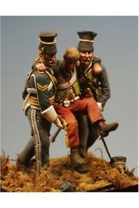 Soldiers of 17th Lancers at Crimean War 54mm 1/32 Tin Painted Toy Soldier | Art
