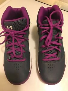 Girls Under Armour Athletic Basketball shoes 4Y