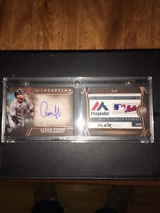 2017 Topps Inception Aaron Judge Auto Laundry Tag 11