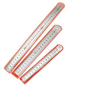15 20 30cm Stainless Steel Metal Ruler Rule Precision Double Sided MM CM INCH $3.99