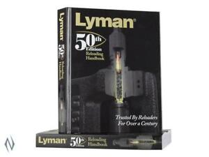 Lyman 50th Reloading Manual Book Paper Back Book New Latest Edition 9816051