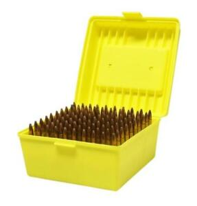 Max-comp Ammo Box Rifle 100 Rounds Yellow Fits  .22-250 .308 .30-06 Cal Case