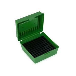 Xhunter Deluxe Ammo Boxes W Handle 100 Round Fits 22-250 To 458 Winchester Green