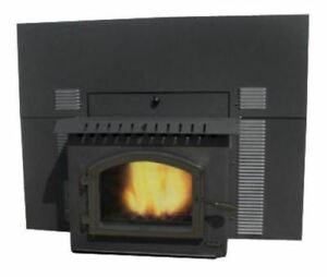 Magnum Winchester Flex-Fuel Stove with Fireplace Insert and Black Door