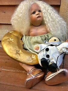 OOAK ONE OF A KIND MICHEL VALENTINO DOLL DELIGHTFUL  GIRL IN THE MOON