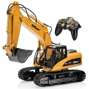 RC Excavator Toy For Boys Large Truck Kids Toddler Town Construction Realistic