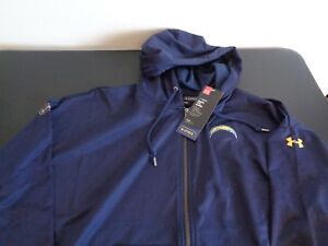 UNDER ARMOUR Los Angeles CHARGERS Football NFL Combine Womens XL Full Zip Hoodie