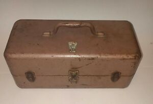 Vintage Loaded Tackle box with RARE LURES MY BUDDY Falls City Product 352 Steel