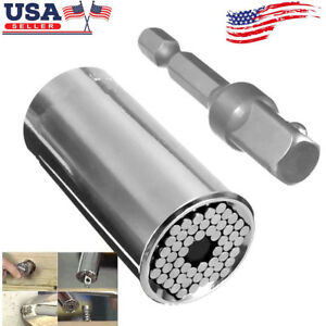 2PCS Universal Set Tool Mechanics Socket Wrench-Craft Piece Sockets Ratchet USA