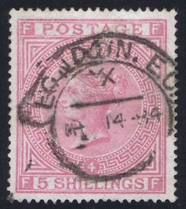 1882 5- Rose on Blued SG 130 FF Plate 4 Very Fine Used Cat. £4800.00
