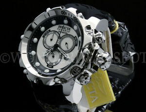 NEW Invicta 52MM SEA DRAGON Venom Gen II WHITE MOTHER OF PEARL Chrono S.S Watch