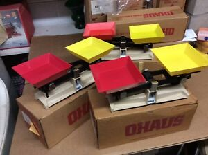 3 Used - OHAUS School Balance Scales Model 1200-50 - NO WEIGHTS