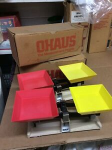 2 Used - OHAUS School Balance Scales Model 1200-50 - No Weights