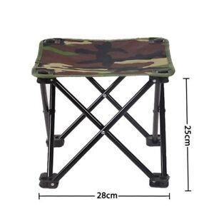 Portable Camping Chairs Outdoor Camouflage Folding Hiking Oxford Fishing Seat