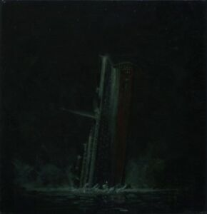 FOUNDERING OF THE TITANIC ORIGINAL ACRYLIC PAINTING