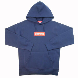 SUPREME 16AW Box Logo Hooded Sweatshirt Parker navy blue SizeM  (K12921