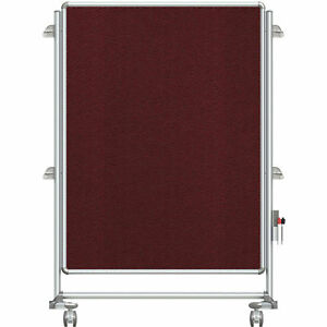 Ghent® Nexus Jr. Partition Reversible Mobile Fabric Tackboard