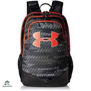 Under Armour Storm Recruit Backpack Bagpack For Boys Supreme Black High School