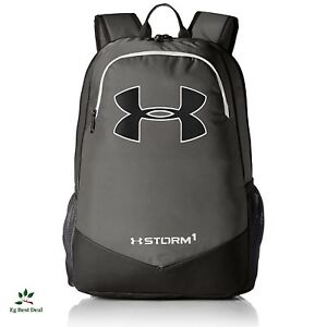 Under Armour Storm Recruit Backpack Bagpack For Boys Supreme Waterproof Graphite