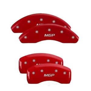 MGP 4 Caliper Covers Engraved Front & Rear MGP Red finish silver ch - mgp51008SM